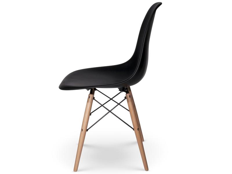 Chaise dsw noir for Chaise eames cuir