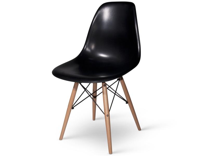 image de l 39 article chaise eames dsw noir. Black Bedroom Furniture Sets. Home Design Ideas