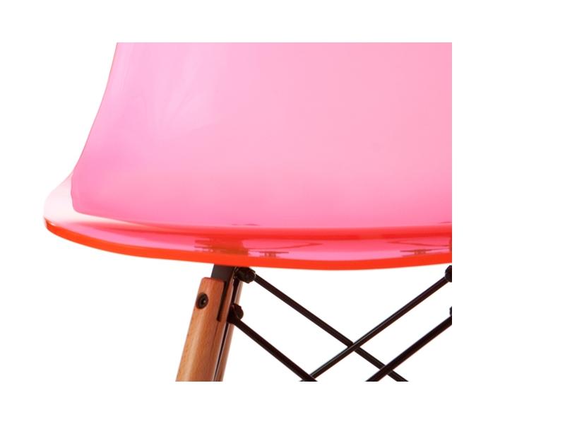 chaise eames dsw rose transparent. Black Bedroom Furniture Sets. Home Design Ideas