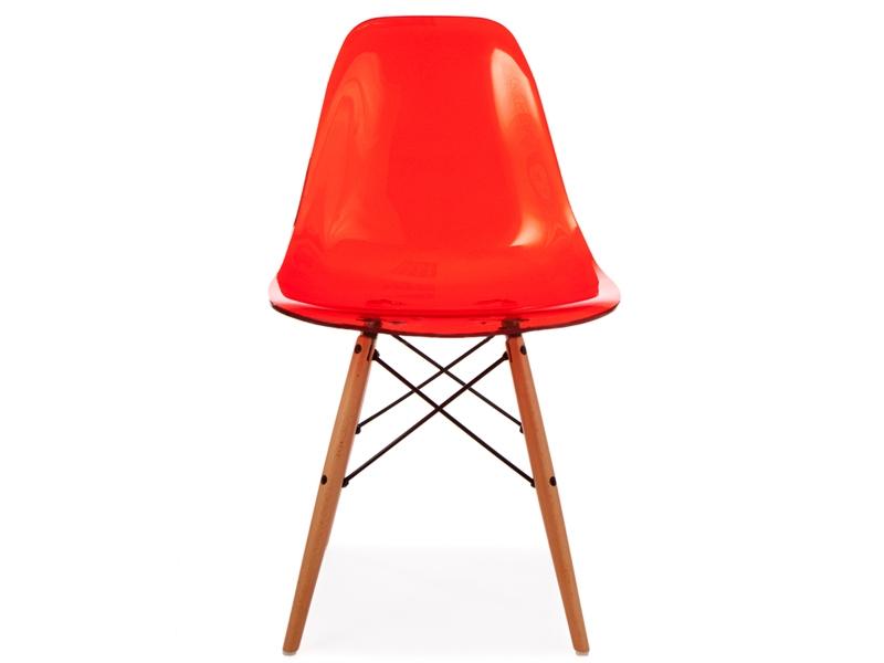 chaise eames dsw rouge transparent. Black Bedroom Furniture Sets. Home Design Ideas