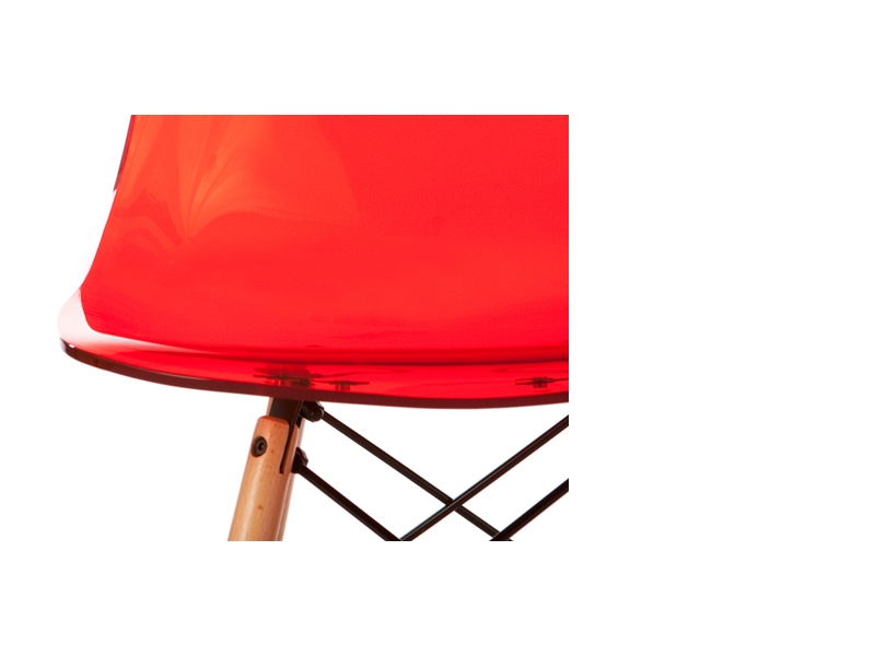 Image de l'article Chaise Eames DSW - Rouge transparent