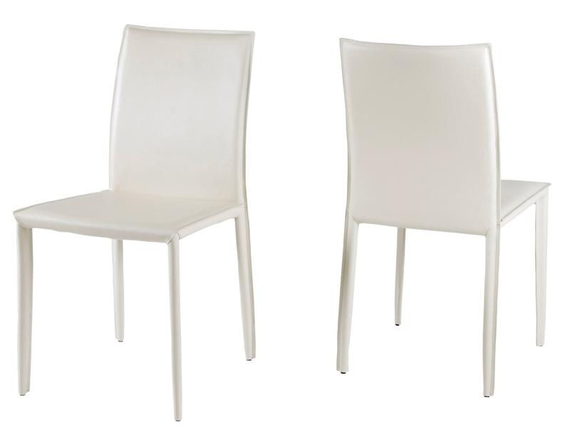 chaise en cuir costa blanc. Black Bedroom Furniture Sets. Home Design Ideas