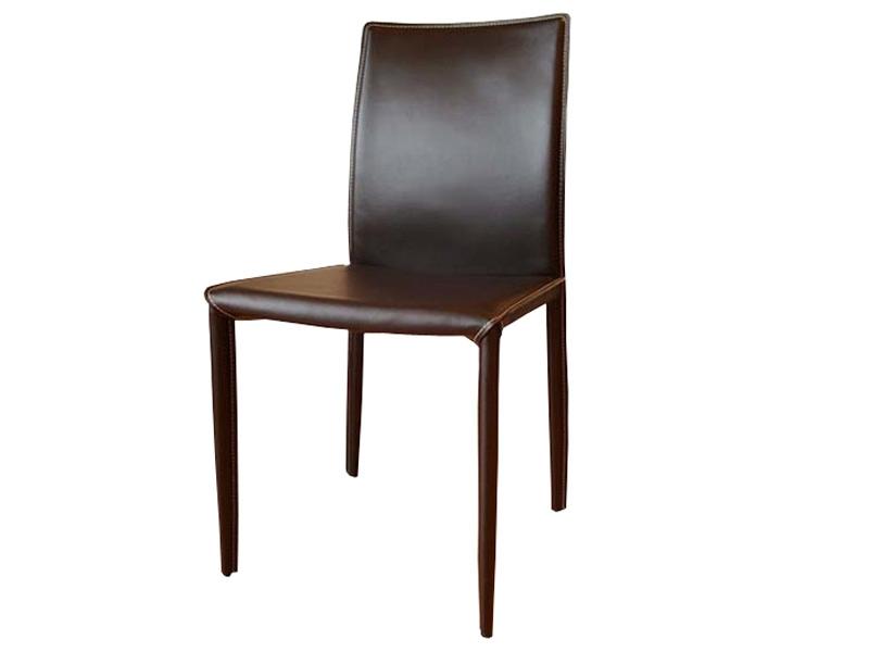 Chaise en cuir costa marron - Chaises en cuir design ...
