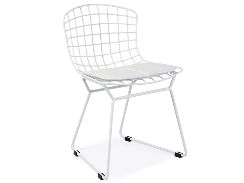 Chaise enfant bertoia wire side blanc for Bertoia chaise prix