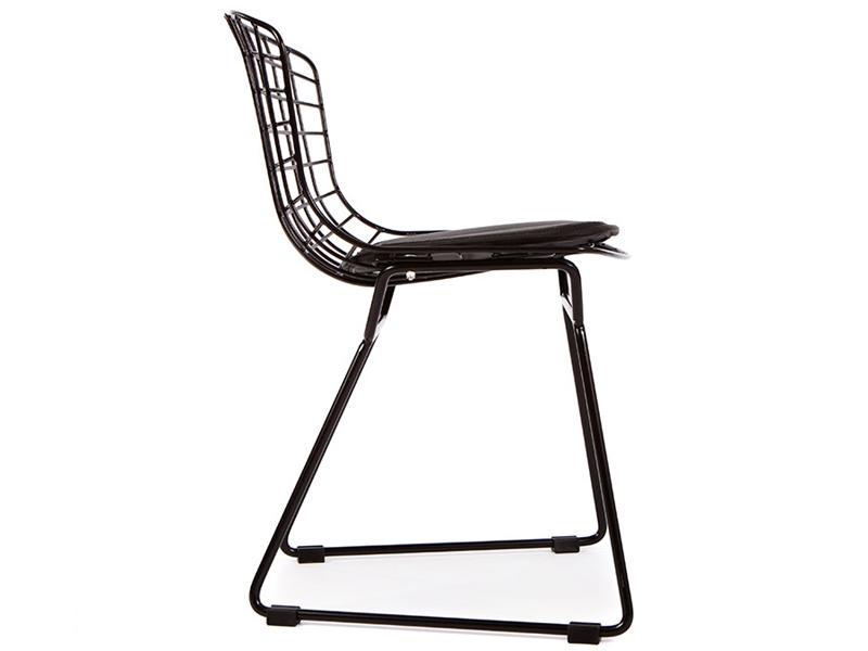 chaise enfant bertoia wire side noir. Black Bedroom Furniture Sets. Home Design Ideas