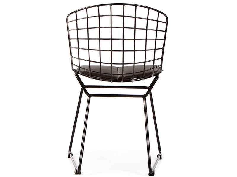 Chaise enfant bertoia wire side noir for Bertoia chaise prix