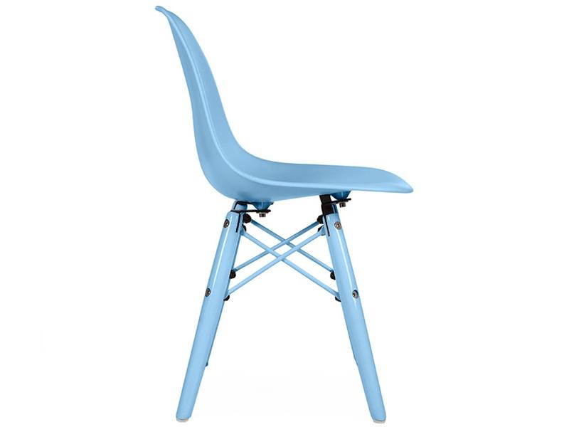 Chaise enfant dsw color bleu for Chaise dsw bleu canard