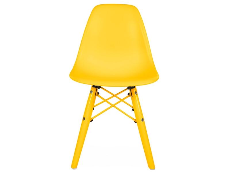 Chaise enfant dsw color jaune for Chaise dsw jaune moutarde
