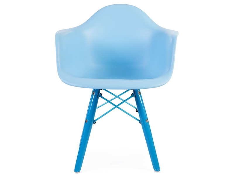chaise enfant eames daw color bleu. Black Bedroom Furniture Sets. Home Design Ideas