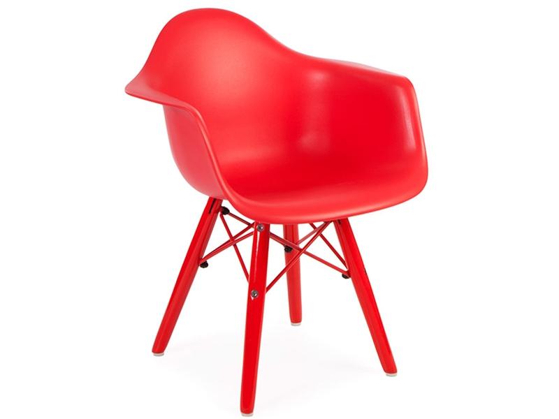 chaise enfant eames daw color rouge. Black Bedroom Furniture Sets. Home Design Ideas