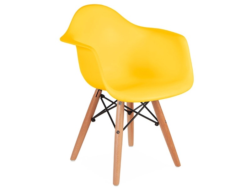 chaise enfant eames daw jaune. Black Bedroom Furniture Sets. Home Design Ideas