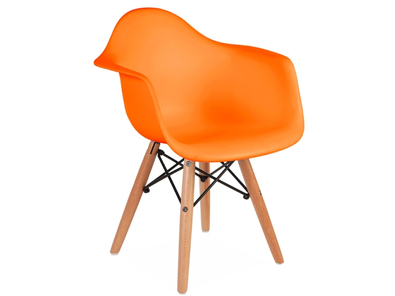chaise enfant eames daw orange. Black Bedroom Furniture Sets. Home Design Ideas