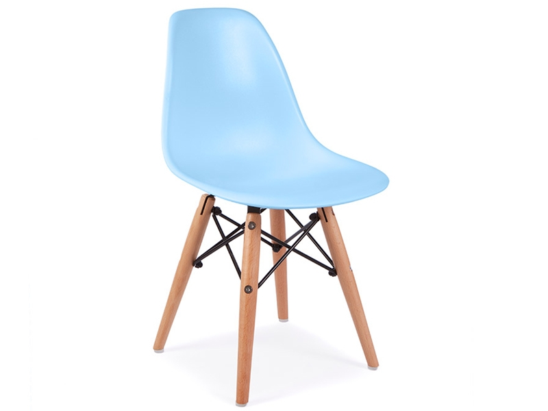 chaise enfant eames dsw bleu. Black Bedroom Furniture Sets. Home Design Ideas