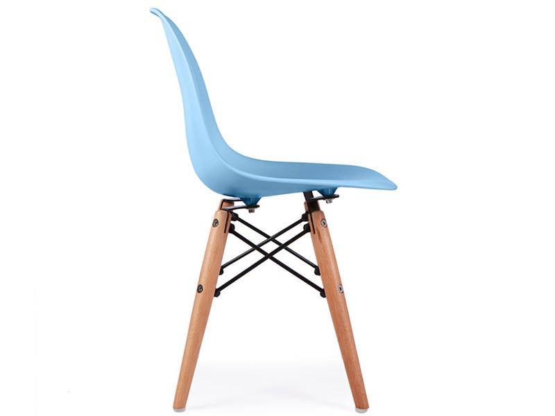 Chaise enfant eames dsw bleu for Chaise eames bleu paon