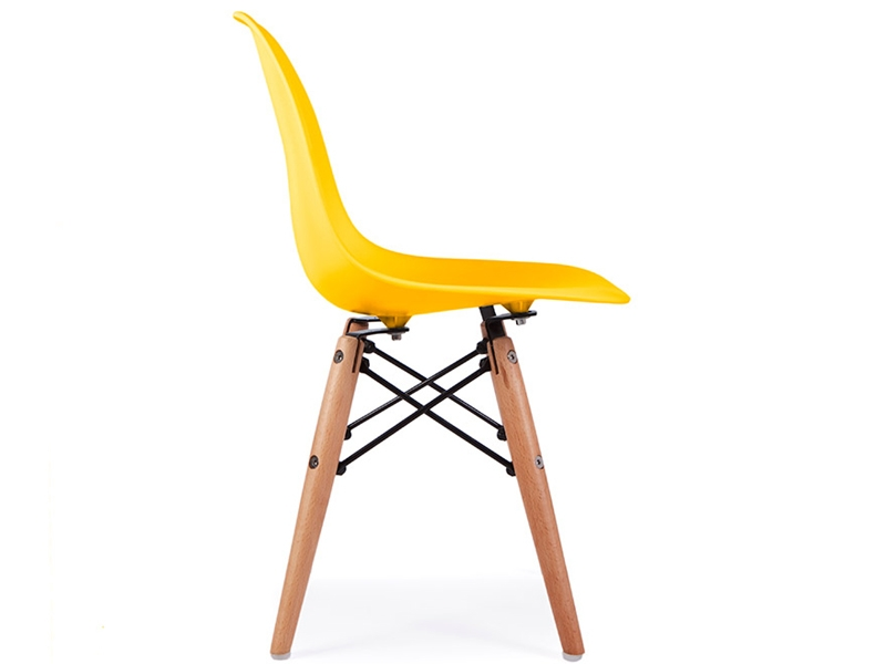 chaise enfant eames dsw jaune. Black Bedroom Furniture Sets. Home Design Ideas