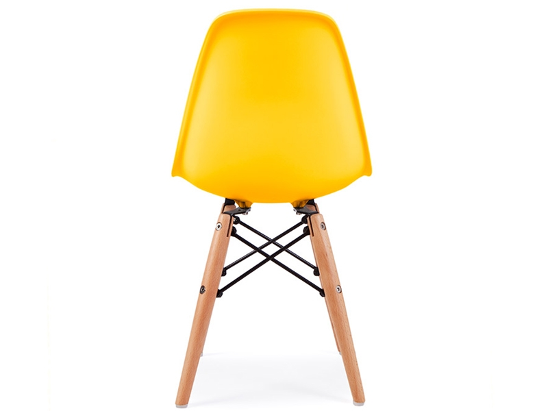 Chaise enfant eames dsw jaune for Chaise eames jaune moutarde