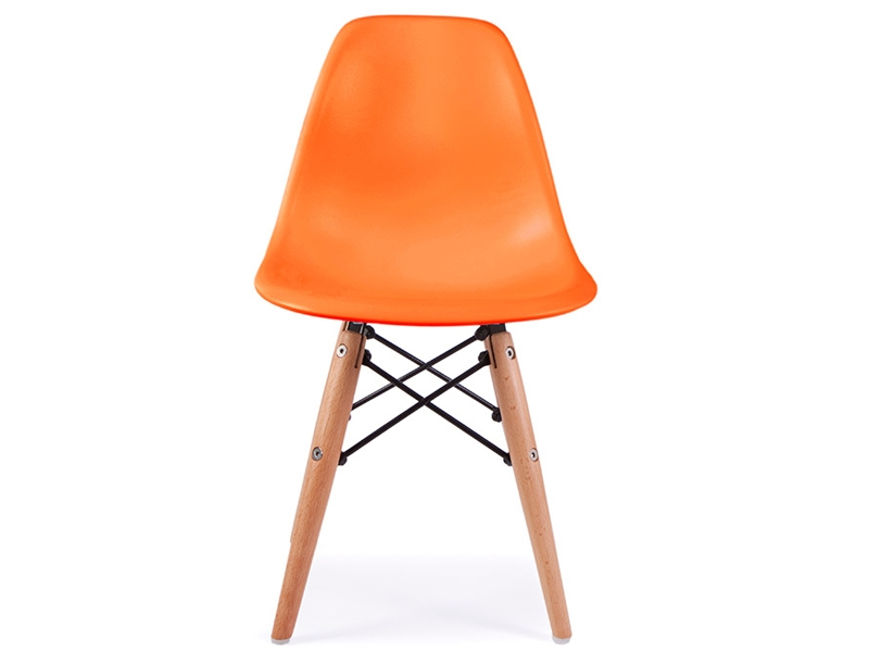 Chaise enfant eames dsw orange for Galette chaise eames dsw
