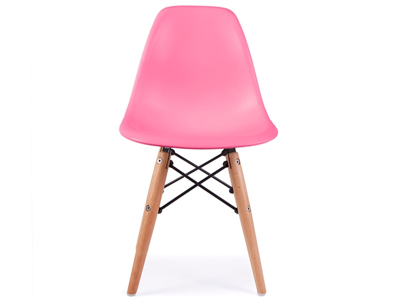 Chaise enfant eames dsw rose for Eames chaise enfant