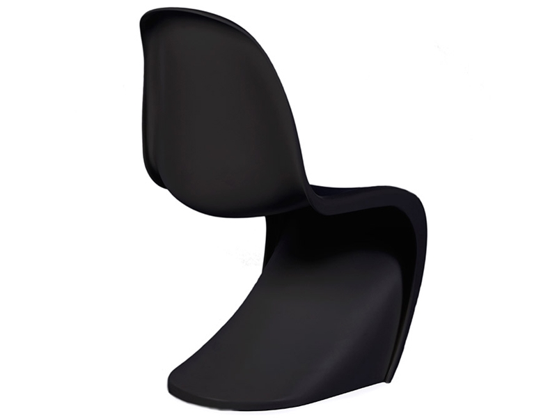 chaise enfant panton noir. Black Bedroom Furniture Sets. Home Design Ideas