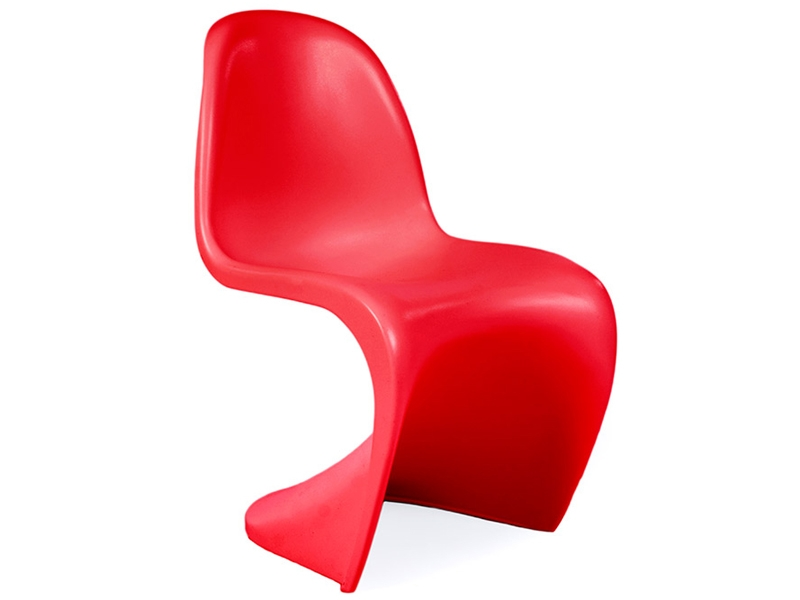 chaise enfant panton rouge. Black Bedroom Furniture Sets. Home Design Ideas