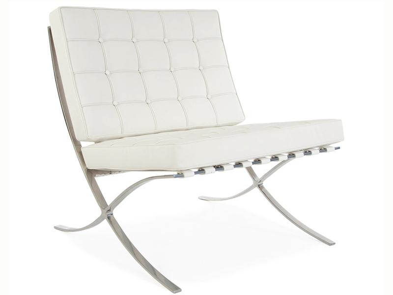 Image de l'article Chaise et ottoman Barcelona - Blanc