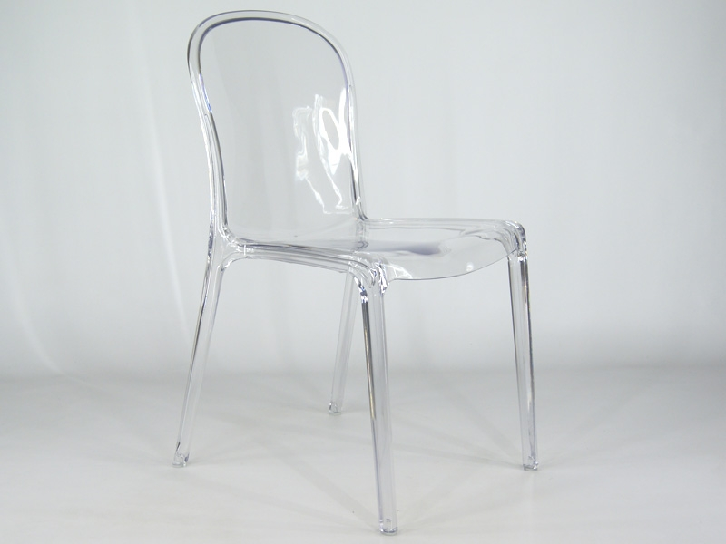 Chaise thalya transparent charles et ray eames fauteuil for Fauteuil eames transparent
