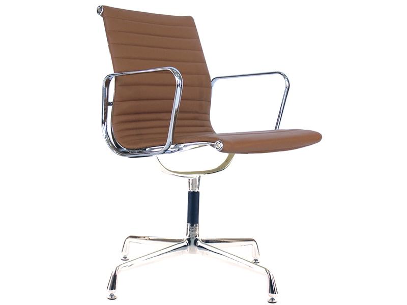 chaise visiteur ea108 caramel. Black Bedroom Furniture Sets. Home Design Ideas