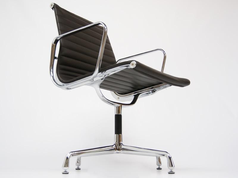 Chaise visiteur ea108 marron fonc for Chaise visiteur
