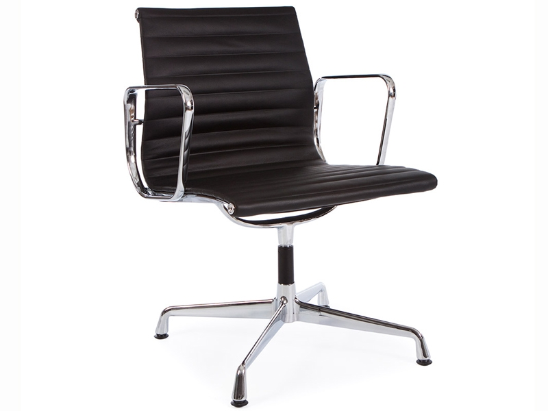 chaise visiteur ea108 noir. Black Bedroom Furniture Sets. Home Design Ideas
