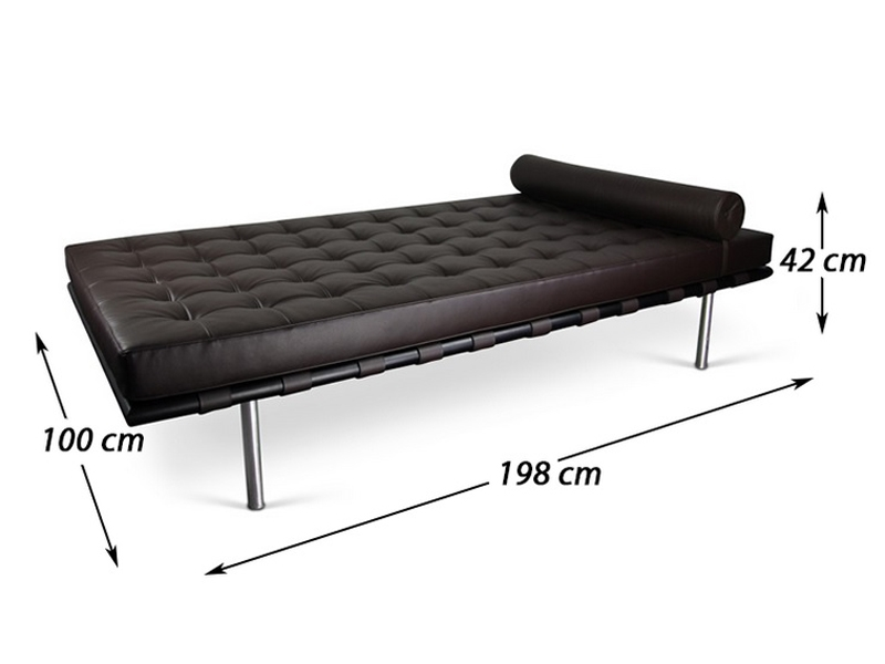 Image de l'article Daybed Barcelona 198 cm - Marron foncé