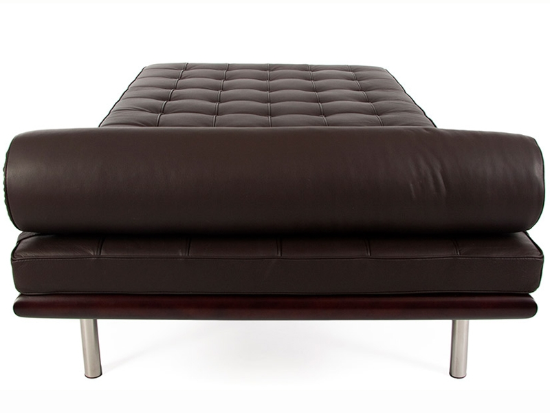Divano letto barcelona 195 cm marrone scuro for Divano letto grande