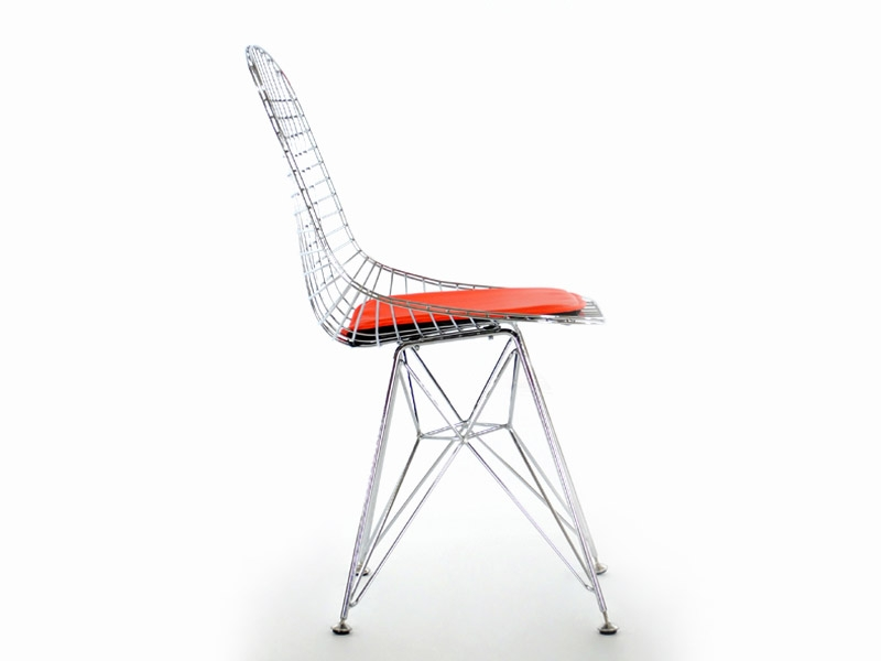 Eames dkr chaise similicuir rouge for Chaise eames dkr
