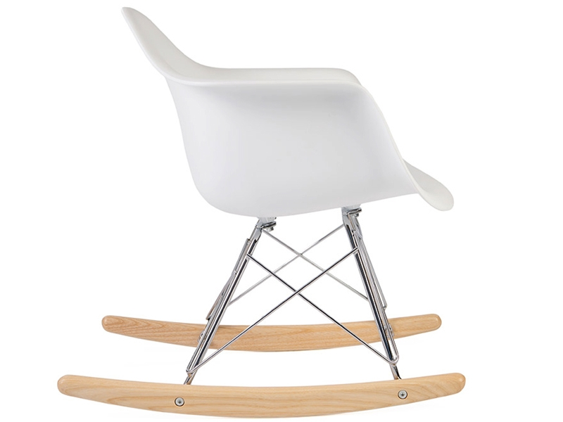 Rocking chair moderne blanc for Eames chaise enfant