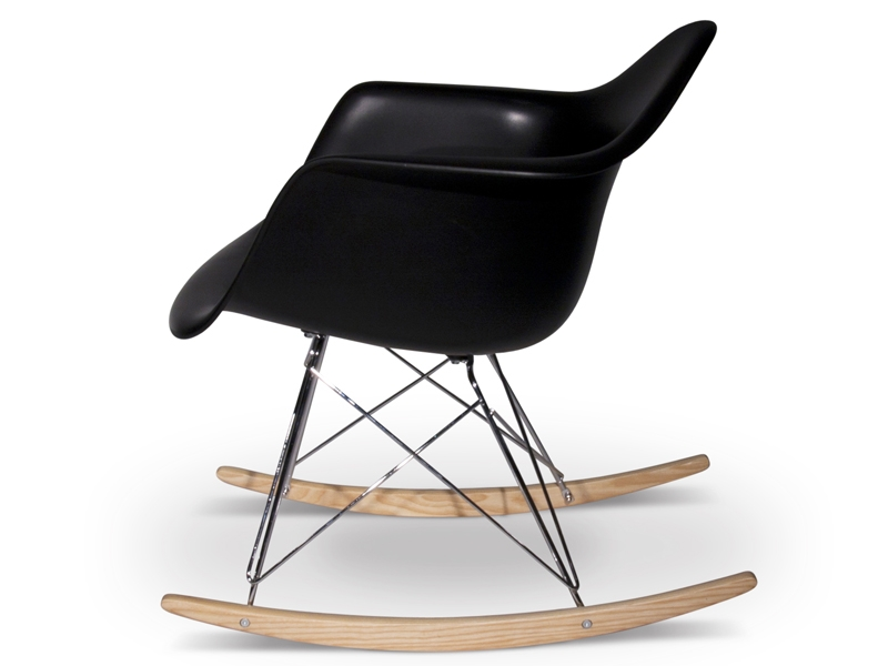 rar rocking chair charles et ray eames noir mobilier design pas cher. Black Bedroom Furniture Sets. Home Design Ideas