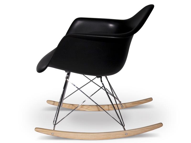 Rar rocking chair charles et ray eames noir mobilier for Mobilier charles eames