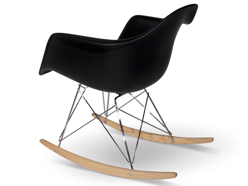 rar rocking chair charles et ray eames noir mobilier design pas cher. Black Bedroom Furniture Sets. Home Design Ideas