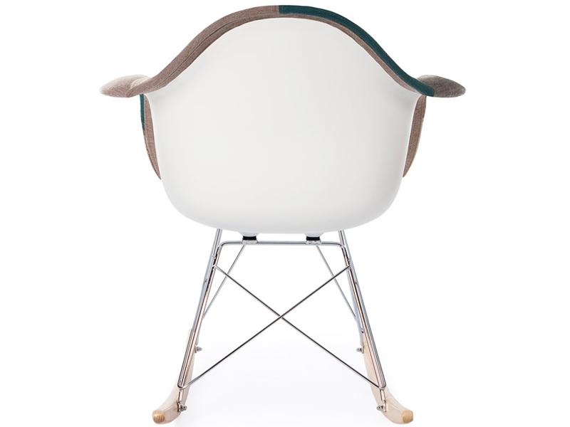 eames rocking chair rar patchwork blu. Black Bedroom Furniture Sets. Home Design Ideas