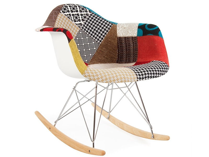 Eames rocking chair rar patchwork for Chaise eams patchwork