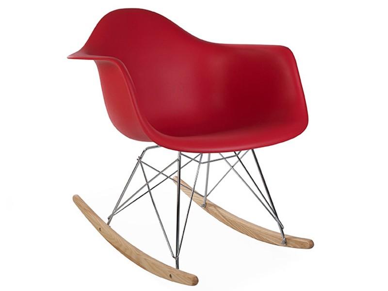 Eames Rocking Chair RAR Rouge grenat