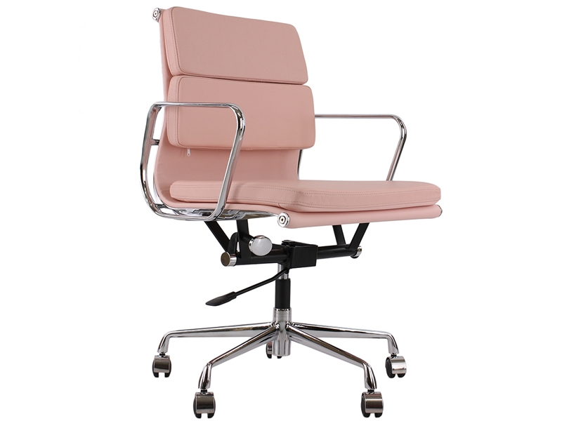 Eames soft pad ea217 rose for Fauteuil eames rose