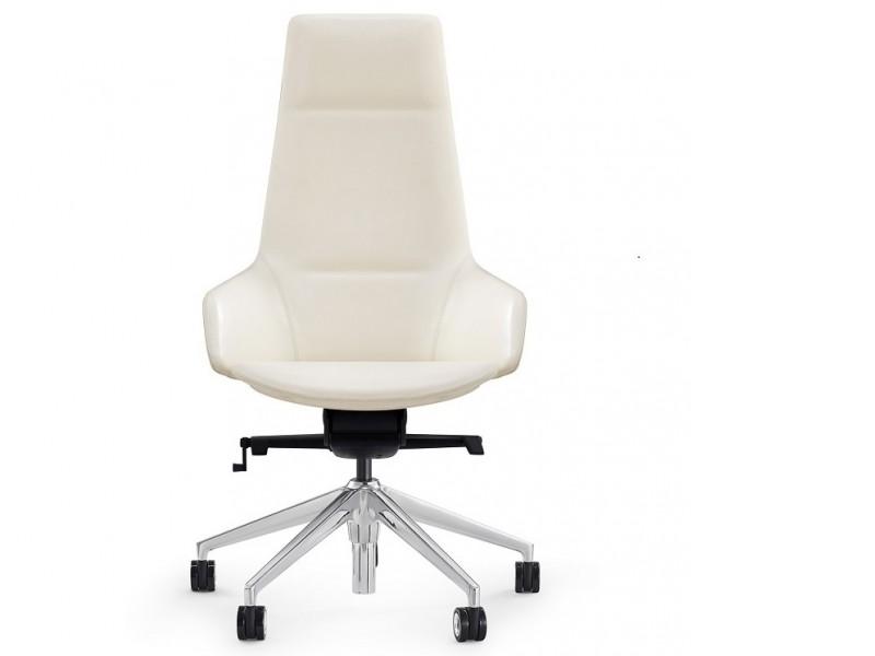 Image de l'article Fauteuil de bureau ergonomique YM-H-129 - Blanc