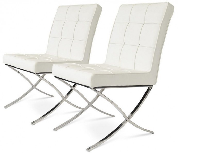 Image of the item Poltrona Barcelona Dining Chair - Bianca (2 Poltrone)