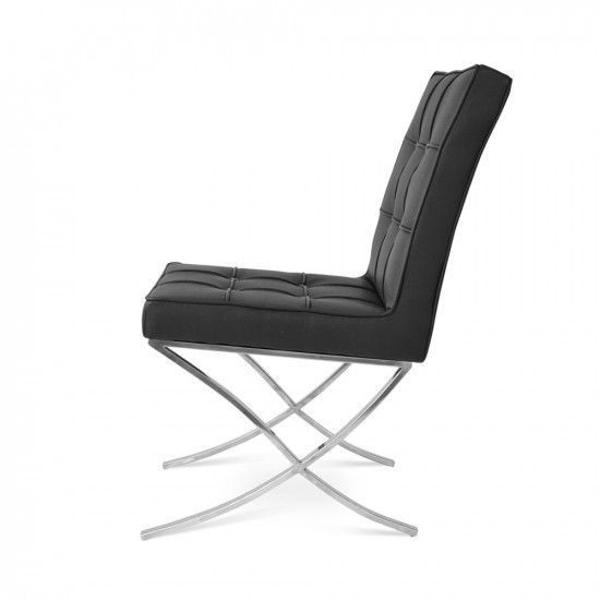 Image of the item Poltrona Barcelona Dining Chair - Nero (2 Poltrone)