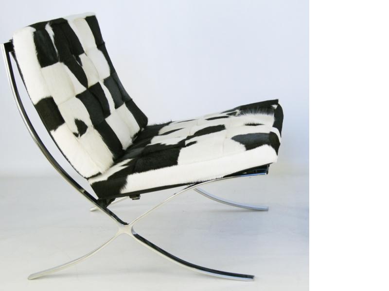 Image of the item Poltrona Barcelona Pony - Nero & bianco