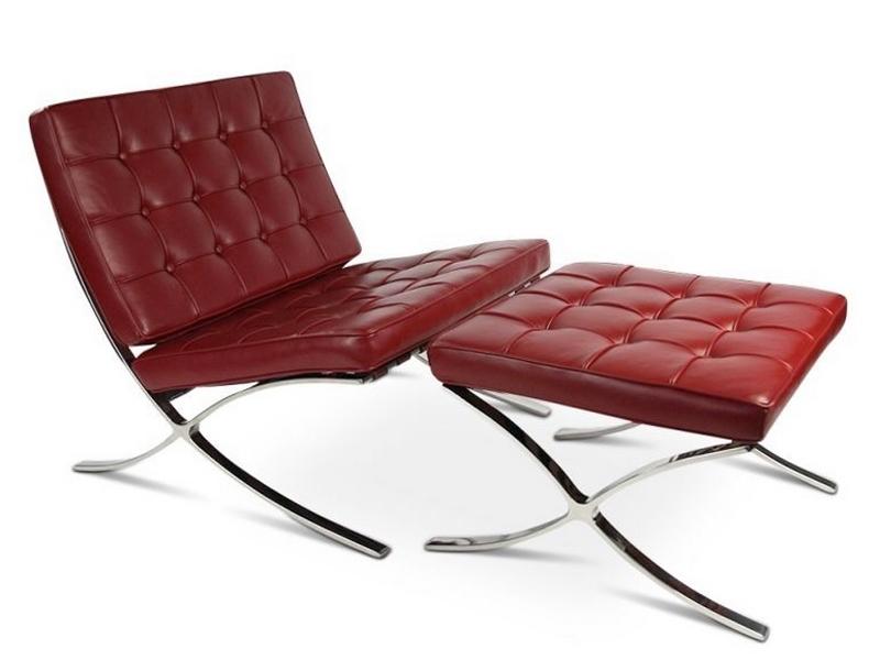 Image of the item Poltrona e ottoman Barcelona - Rosso