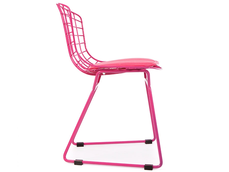 Image of the item Sedia Bambino Bertoia Wire Side - Rosa
