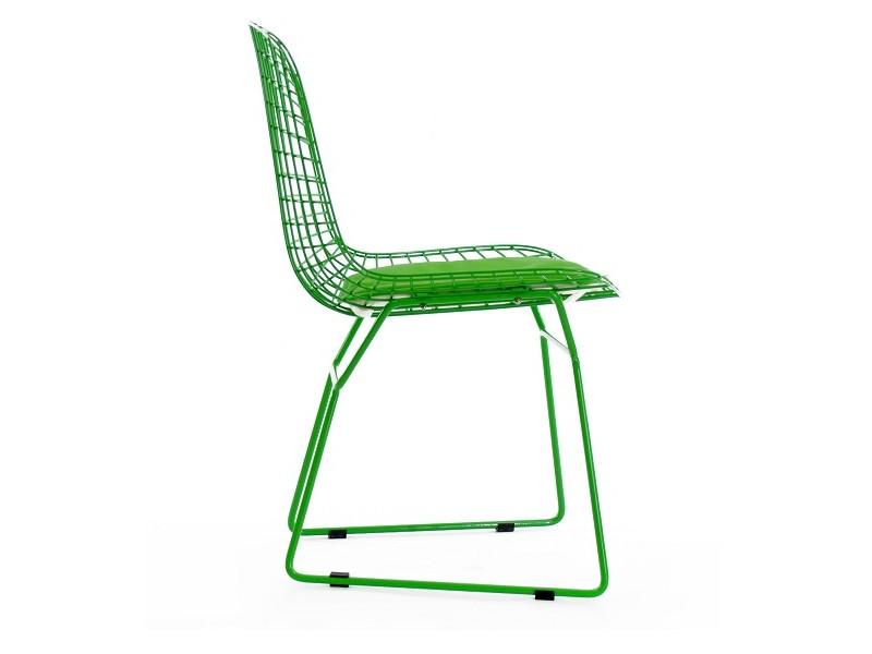 Image of the item Sedia Bertoia Wire Side - Verde