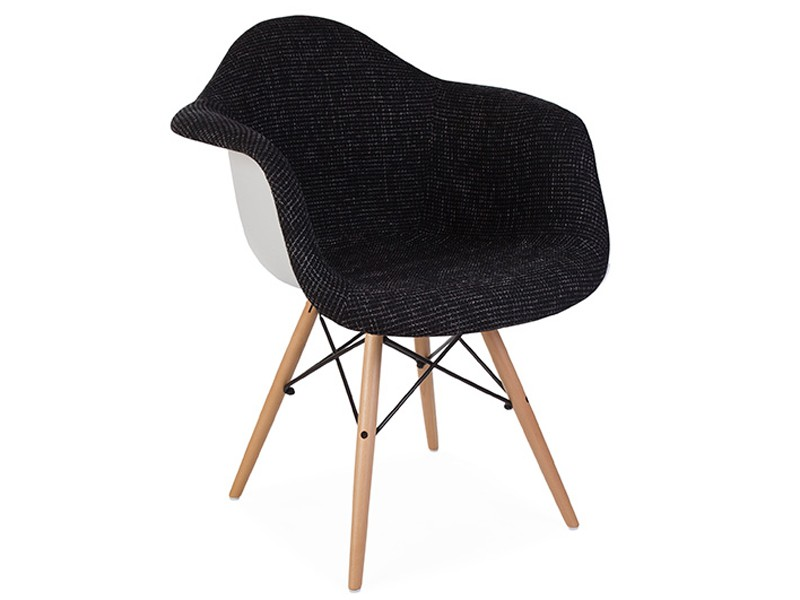 Image of the item Sedia DAW imbottito lana - Nero