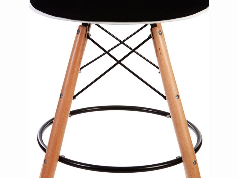 Image of the item Sedia di bar DSB imbottito lana - Nero