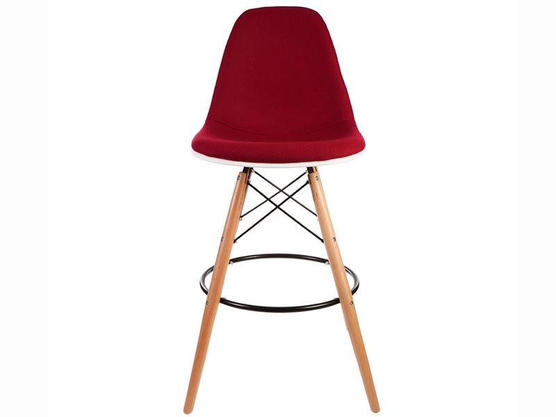 Image of the item Sedia di bar DSB imbottito lana - Rosso